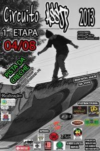 Campeonatos 1º estapa Circuito Assjp 2013 pista de skate da Creche -  Vai rolar a primeira etapa do circuito de São José dos Pinhas na grande Curitiba, o evento será realizado no dia 14 de Agosto de 2013 na pista de skate da Creche.