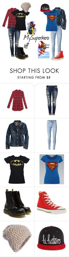"""""""My superhero bff"""" by mandymag ❤ liked on Polyvore featuring Woman Within, Mavi, American Eagle Outfitters, ONLY, Dr. Martens, Converse and KISS by Fiona Bennett"""