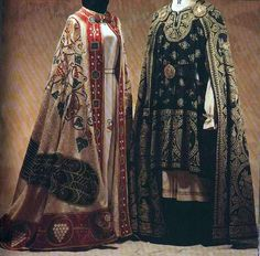 Byzantine dress for the upper classes consisted of various colors and patterns and was made of rich patterned cloth from silk. Description from pinterest.com. I searched for this on bing.com/images