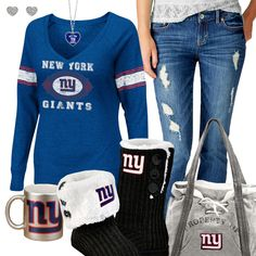 New York Giants Fashion - Cozy Giants Sunday New York Giants Football, My Giants, Best Football Team, Football Season, New York Yankees, Football Football, Odell Beckham Jr Game, The Sporting Life, Nyc Girl