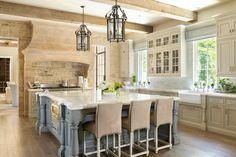 From the Portfolio of Harrison Design Beach House Kitchens, Home Kitchens, Dream Home Design, House Design, Kitchen Interior, Kitchen Design, Kitchen Ideas, Steel Frame Doors, Harrison Design