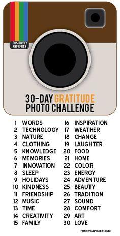 30 Days of Gratitude Photo Challenge for November