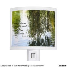 Compassion is an Action Word Night Light