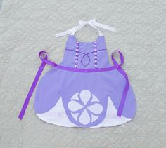 Princess Sofia the First Inspired Dress Up Apron by ImaginebyDaisy on Etsy