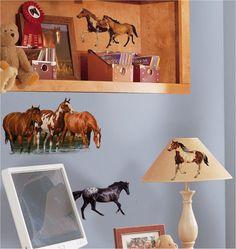 Wild Horses Western Wall Stickers Decals Room Decor Murals $19.99 #kidsroomstore