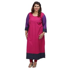 Damyantii Pink Cotton 3/4 Sleeve Straight casual XXL Kurt... http://www.amazon.in/dp/B01G599NRA/ref=cm_sw_r_pi_dp_x_SDCQxb1TKSPF5