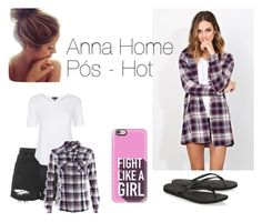 """Anna Home Pós- Hot"" by sumoraeszanna on Polyvore featuring moda, Topshop, Havaianas e Casetify"