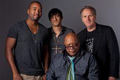 Keith Harris, Jeff Bhasker, Quincy Jones & President Roger Brown at Berklee's Alumni Reception at the Grammys (2012).