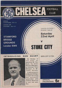 Vintage Football Programme - Chelsea v Stoke City, 1966/67 season, by DakotabooVintage, £3.99