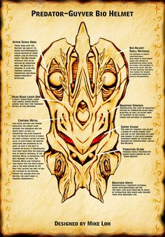 Preda-Guyver Bio Helmet Detail by Uratz-Studios