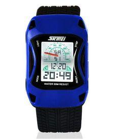 Children Watches Car Style LED Cartoon Digital Watch Jelly Silicone 50m Waterproof Swim Sports Wristwatches For Children