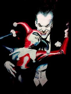 The Joker and Harley Quinn Comic Art