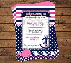 Nautical Birthday Invitation by RaynebowShoppe on Etsy, $1.00