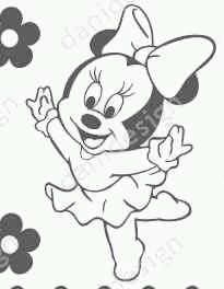 risco minnie bailarina Disney Character Drawings, Disney Drawings, Cartoon Sketches, Drawing Sketches, Pencil Art Drawings, Easy Drawings, Walt Disney Animation Studios, Disney Coloring Pages, Fabric Painting