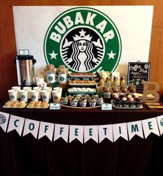 Just Lovely Favors .'s Starbucks Cafe Dessert Bar / Starbucks - Photo Gallery at Catch My Party 13th Birthday Parties, Birthday Party For Teens, 14th Birthday, Sleepover Party, Birthday Party Themes, Teen Birthday, Spa Party, Birthday Ideas, Starbucks Birthday Party