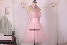 2015 New A line Ball Gown Cheap Baby Pink Open by LetitbeBridal
