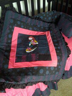 New Nightmare Before Christmas SALLY baby Crib Bedding Set custom made to order. $275.00, via Etsy.
