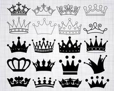 Crown SVG Bundle Crown SVG Crown Clipart Crown Cut Files