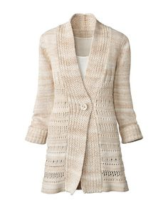 Coldwater Creek is my type of store. Classic, comfortable looks that I can wear to work or out on weekends. This sweater is a great example of something basic that I can dress up or down. $109.95 #sweater #cream
