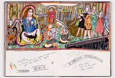 book captures the sketches and evolution of Grayson Perry's famed class tapestries. Grayson Perry, Political Art, Artist Painting, Contemporary Artists, Book Art, My Arts, Artsy, Sketches, Tapestry