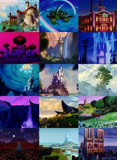 the settings in Disney movies are always magical