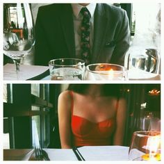 This is what dates look like when you're older, mature, sophisticated enough to take her to expensive places not to impress but to spend precious time knowing that the future requires trust, maturity, faith, and above all else thanking God for the special people in life and going on His timetable not ours.