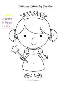Princess Colour by Number