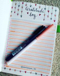 Bullet journal gratitude log by Bullet Journal Gratitude, Bullet Journal Log, Gratitude Journal Prompts, Bullet Journal Tracker, Bullet Journal Aesthetic, Bullet Journal Layout, Bullet Journal Ideas For Mums, Bullet Journal Overview, Journal Prompts For Kids