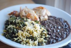 Creamy black beans in the pressure cooker