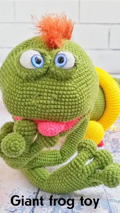 Items similar to Green frog figurine, frog toy, giant toy, soft toy on Etsy Handmade Soft Toys, Etsy Handmade, Handmade Ideas, Handmade Gifts, Amigurumi Toys, Crochet Patterns Amigurumi, Softies, Knitted Cat, Knitted Dolls