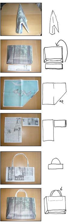News paper bag folding instructions in japanese