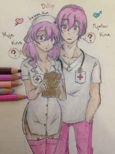 The Nurse Couple. Right now, I want to send all of the Genderbend version of the Rivals from Yandere Simulator first. So, after posting all of the rivals plus some main characters. I'll send the Se...