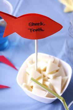 shark teeth for shark party