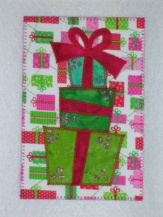 This is a 4x6 quilted postcard. Postquilts are fabric on the front and paper on the back so you can be creative too!    They are suitable for mailing,