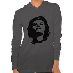 REVOLUTIONARY WOMAN (stencil) Bella Jersey Hoodie $44.45 #stencil #black #revolution #hoodie #gayriot http://zazzle.com/revolutionary_woman_stencil_bella_jersey_hoodie-235292098467948828?rf=238202880278685137