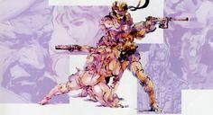 Solid Snake & Meryl Silverburg from Metal Gear Solid, by Yoji Shinkawa
