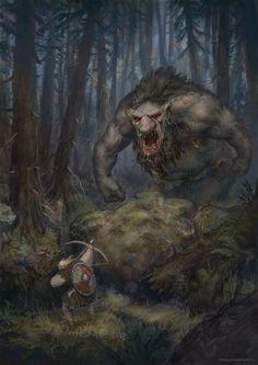 ArtStation - Forest Encounter, Jonas Jensen