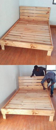 Lovely Pallets Bed Project