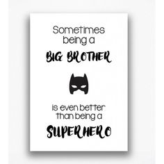 Poster - Being a big brother