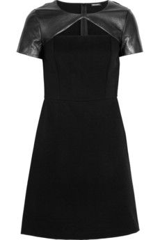 Leather and cotton dress from DKNY