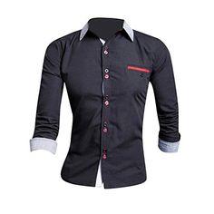 00b32a83c1 Jeansian Uomo Camicie Moda Men Shirts Slim Fit Casual Fashion 8656 White L   Amazon.it  Abbigliamento