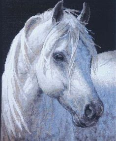 Animals and Insects Cross Stitch Kit Cross Stitch Horse, Cross Stitch Boards, Cross Stitch Kits, Cross Stitch Patterns, Cross Stitching, Cross Stitch Embroidery, Dimensions Cross Stitch, Barn Animals, Diamond Paint