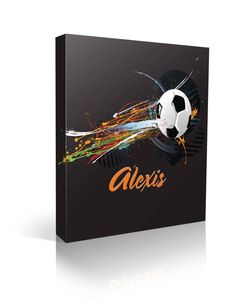 This is awesome. Would be great for a boy or girl. beautiful paint splattered soccer ball custom named canvas Boys Soccer Bedroom, Soccer Room, Soccer Theme, Soccer Birthday, Soccer Banquet, Girls Soccer, Soccer Ball, One Stroke Painting, Painting & Drawing
