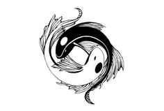 Ying yang tattoo from koi. Similar to what I have in mind for my other ankle