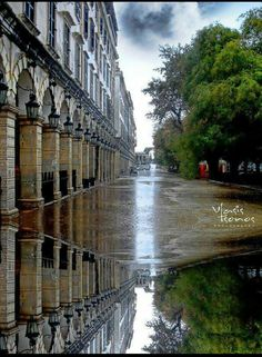 Liston square, Corfu, Greece #rainyday