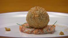 Scotch Quail Eggs with Salmon Tartare