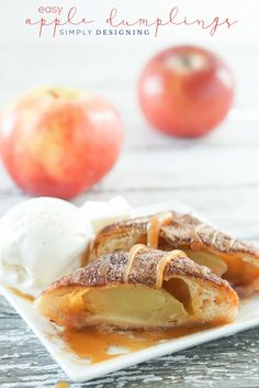 Easy Caramel Apple Dumpling Recipe - this is such an easy recipe and makes amazing dumplings