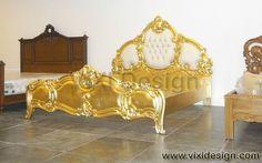 Italian Gold Leaf Furniture Bedroom Luxury Divan | Luxury Furniture Victorian Modern Classic Contemporary Furniture Designer and Manufacturer