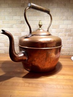 Antique Copper Kettle. This would live in my dream kitchen.