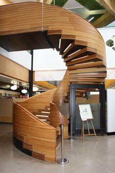 Staircase at the Royal Botanic gardens Edinburgh Scotland